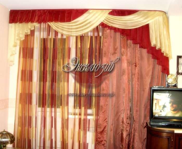 шторы для зала фото