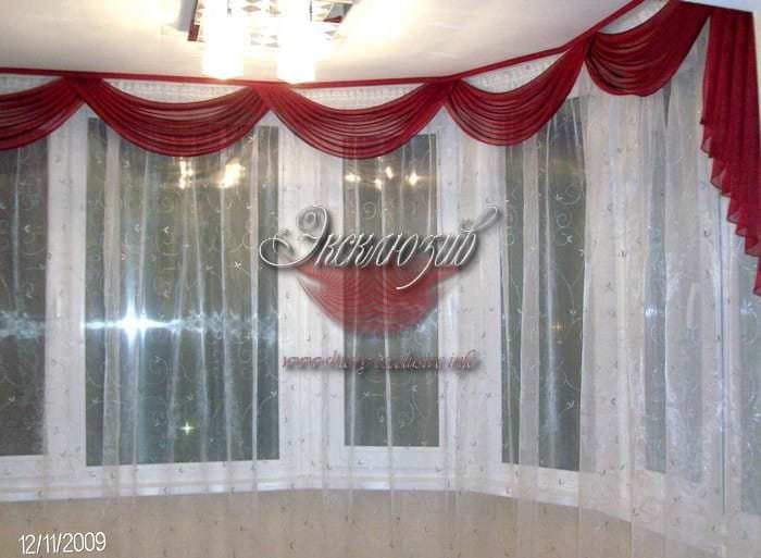шторы в угловую комнату